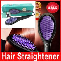 electric comb - newest DAFNI Hair Straightener Brush Comb Straightening Irons Electric flat iron Straight Styling Tool with US EU UK AU plug with logo