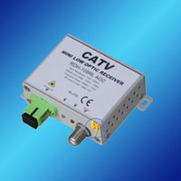 Wholesale CATV MINI AGC FTTH OPTICAL RECEIVER FTTH Way output CATV AGC receiver Optic to RF Media Converter