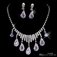 Big Discount plaqué 2016 Nouveau collier et jeu de boucle d'oreille strass diamant Designer Soirée Bangles Accessoire de bijoux de mariée 15003A
