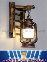 antique wall lantern - New Retro Wall Light Nostalgia Kerosene Lamp Antique Vintage Thrift Lantern Wall Mount Sconce Lamp Lights LED Bulb For Bar Cafe MYY