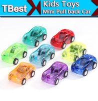 Wholesale Kids Toys Transparent Mini Pull back Car Model Toy for Children Plastic Toys Birthday Xmas Gifts