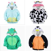 bees cotton - BST43 NEW Little Maven boys girls Kid cotton Long Sleeve stereo penguin bee cow frog style cashmere hoodies child zipper outerwear coat