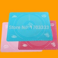 Wholesale 50PCS cm large Nonstick Silicone Dough Pastry Bake Sheet Roll Cut Mat with Measurements
