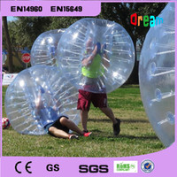 Wholesale Transparent inflatable bumper ball soccer bubble ball zorbing ball loopy ball for sale