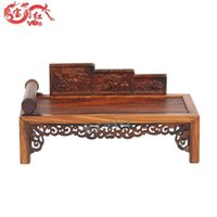 antique wooden house - Treasure house mahogany antique wooden furniture rosewood antique crafts miniature Luo Hanchuang new special offer