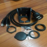 Wholesale Car Dash Flush Mount Dual USB Cable with Mounting Video Extension Cable M F
