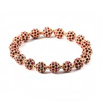 bead suppliers fashion - Fashion Luxury Jewelry Bracelet L Stainless Steel Beads and Crystal Custom Color Supplier