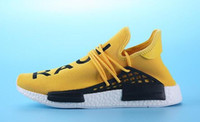 Wholesale 2016 new NMD Human Race Runner Boost Pharrell s Runners and Trainers NMD Boost Running Shoes Hu race Williams Pharrell x White Red Yellow
