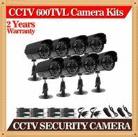 al por mayor cámaras bullet color resistente a la intemperie-El envío libre, la CIA-8pcs / porciones 1/3