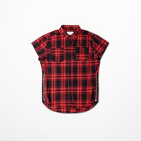 Wholesale Hip Pop shirt For men Plaid Fear of God Style Fahion Zipper Design Curved Hem man shirts Summer Short Sleeve Kanye camisa XXL