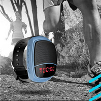 answer speakers - B90 mini bluetooth smart watch speaker portable sports wireless speakers selfie anti lost bracelets wristband subwoofers support TF FM