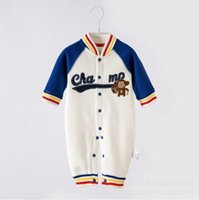 baseball baby clothes - Spring new baby baseball style leotard new long sleeved cotton baby clothes