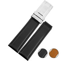 band for watches leather - High quality men Black Brown smooth Genuine Leather watch strap for ROL19mm mm genuine leather Watch Band