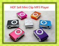 Wholesale Mini Clip MP3 Music Player Cheap Sport Style Metal MP3 Players without Screen with Retail Box Earphone USB Cable