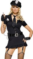 Wholesale The new Halloween costume party police policewoman costume dress uniforms temptation role playing police uniforms in Europe and America