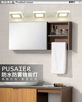 bathroom modules - Three module W Length cm LED mirror lamp Europe Simplicity modern bedside wall bathroom Sconce lighting AC90 V