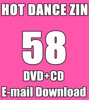 Wholesale E mail Shipping New South America HOT DANCE ZIN Comprehensive dances Online Download ZIN58 V DVD M CD