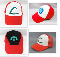 baseball halloween costumes - DHL Unisex Poke Ash Ketchum Trainer Hat Cap Adult Ball Snapback Caps Adult Costume Cartoon Trucker Baseball Hockey Sneaker Men Hat New Hot