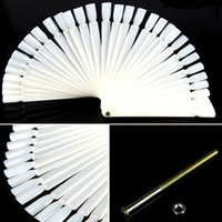 Wholesale New False Nails Faux Ongles bag Nail Color Sample nail Art Tips Display Practice Fan Polish Tools Equipment OR600516