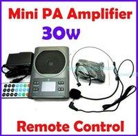Wholesale W Square Portable Mini Professional Voice Speaker Amplifier MP3 FM USB LCD