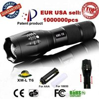 Wholesale USA EU Hot E17 XM L T6 LM Aluminum Waterproof Zoomable CREE LED Flashlight Torch light for Rechargeable or AAA Battery