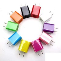 Wholesale Double USB charger universal USB wall Charging Charger US EU Plug A AC Power Adapter Wall Charger