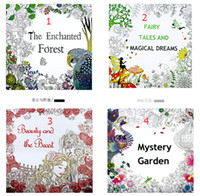 Wholesale 4 Design Secret Garden Beauty and the Beast Coloring Book Children Relieve Stress Kill Time Graffiti Painting Magic forest Drawing Book