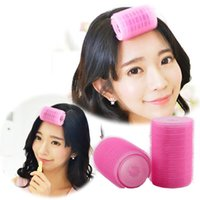 Wholesale New Hair Roller Roll Bangs Curls Artifact Double Layer Self adhesive Hair Curlers Tube Hair Foam Rollers Hairdressing Tools