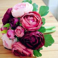 Wholesale High Quality Colors Wedding Bridal Bouquet buque de noiva artificial Wedding Flowers Bridal Bouquets