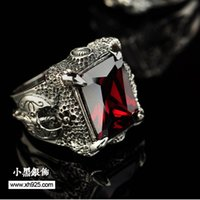 axe band - Jimei retail jewelry sterling silver jewelry inlaid CZ Longzhua axe men s ring domineering men s