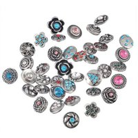 Wholesale 50 Mixed Rhinesone Snaps Ginger Buttons mm interchangeable Ginger Snaps noosa snap Jewelry free shpping