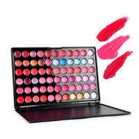 Cheap 66 Color Lip Gloss Lipstick Palette Nude Moisturizing Cream Lipstick Professional Makeup Cosmetic Lip Product for photo studio