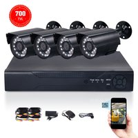 Wholesale 4CH H H DVR TVL Outdoor Waterproof CMOS mm Lens CCTV Security Camera Kit With T HDD
