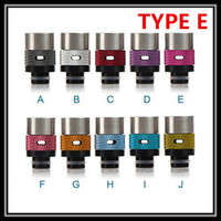 Wholesale Carbon Fiber Drip Tips For RBA RDA Ecig Atomizer Wooden Colorful Ceramic Stainless Sideling Mouthpieces Airflow Adjustable Drip Tips