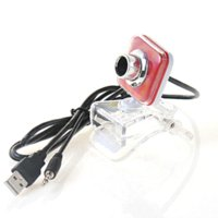 Wholesale Plastic USB webcam camera computer camera with microphone support systems Windows XP VISTA SP2 MAC Red