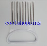 onion slicer - Onion Tomato Vegetable Slicer Cutting Aid Guide Holder Slicing Cutter Gadget