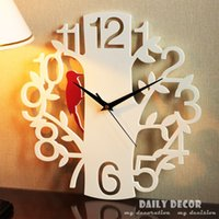 bell cloche - Modern14 inch ultra silence hanged wall clocks de parede reloj petit oiseau art horloge cloche campana soittokello bel Bell sino