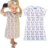 american girl dress patterns free - Retail Summer Style Girls Dress Cartoon Rabbit Kids Dresses Lovely Children s Clothing Animal Bunny Pattern Baby Clothes