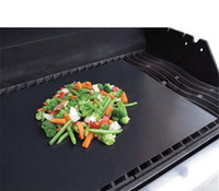 Wholesale Barbecue Grilling Liner Teflon BBQ Grill Mat Portable Non stick and Reusable Make Grilling Easy CM MM Black Oven Hotplate Mats