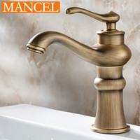 bath accessories nickel - MANCEL Bathroom Kitchen Basin Faucet Antique Bronze Finish Brass Mixer Tap Hot and Cold Sink Faucet Bath Accessories HOT SALE