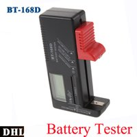 aa electrical wholesalers - Portable Smart LCD Digital Battery Tester BT168D Electronic Battery Power Measure V V Button Cell AAA AA C D Battery Meter