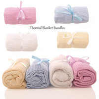 baby moses - NEW and High Quality Kids Celluar Cotton Pram Cot Crib Moses Baby Blanket Gift Colors X CM