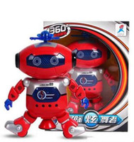 Wholesale Lovely degree Rotation Smart Space Electric Robot Dancing Music Light Toy Children Gift Sell