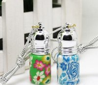 Wholesale 3ML Empty Perfume Refillable Bottles Glass Essential Oil Roll On Roller Ball Polymer Clay Bottle