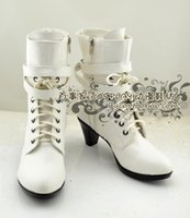 achat en gros de talon haut f-Grossiste-Macross F Macross Frontier Sheryl Nom chaussures à talons hauts bottes Cosplay chaussures chaussures # NC425 Halloween Noël