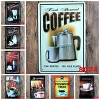 Wholesale x30CM Retro Tin Signs Coffee Mural Home Restaurant Iron Poster Wall Decor
