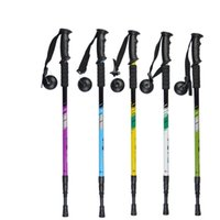 Wholesale Outdoor Mountaineering Climbing Sections Straight Grip Handle Anti shock Trekking Walking Hiking Sticks Poles Alpenstock cm