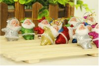 Wholesale 2016 Hot Christmas Decoration Color Powder Color Santa Claus Christmas Tree Ornaments Gadgets