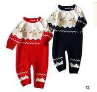 authentic clothes wholesale - 2016 Authentic Autumn Winter new baby romper suit baby climb clothes cotton thread pure cotton