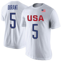 Wholesale 2016 Rio Olympic games USA basketball team training t shirt DURANT IRVING THOMPSON Mens T Shirt short Sleeve fashion t shirt DU